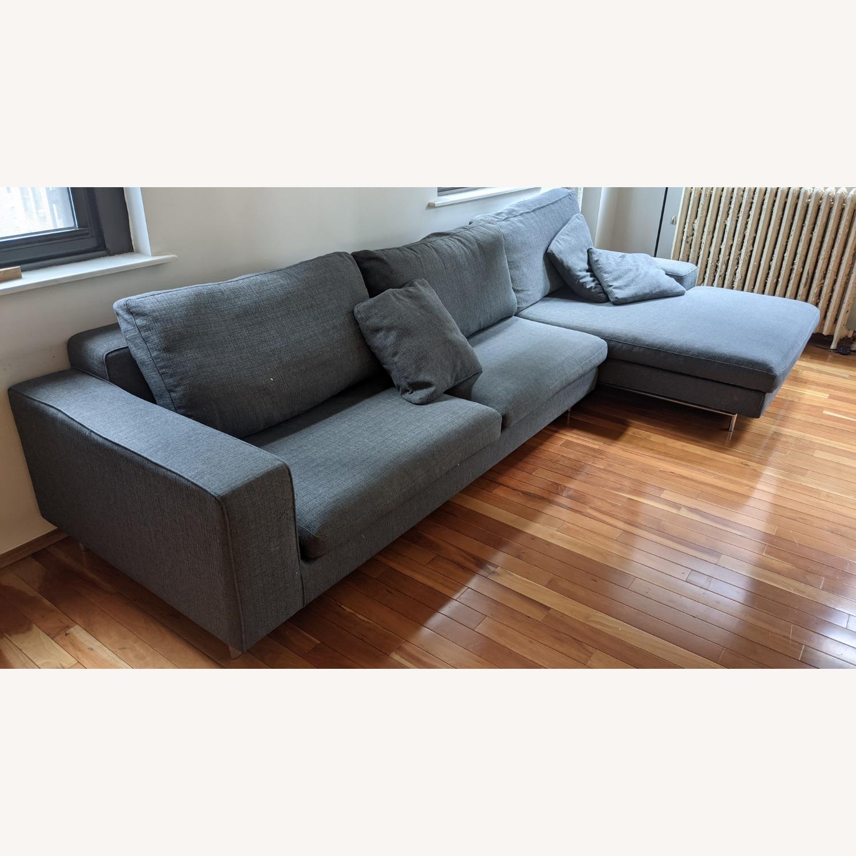 Modern Modular Sofa -Grey Fabric - image-3