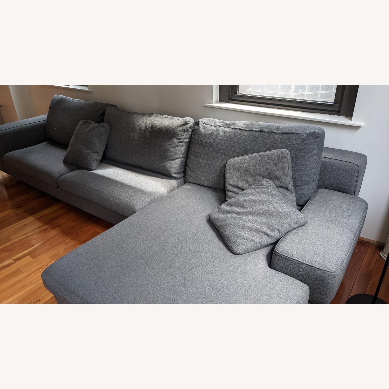 Modern Modular Sofa -Grey Fabric - image-8