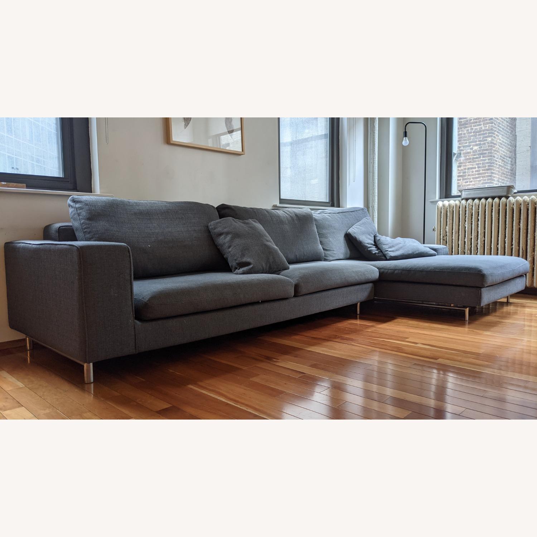 Modern Modular Sofa -Grey Fabric - image-5