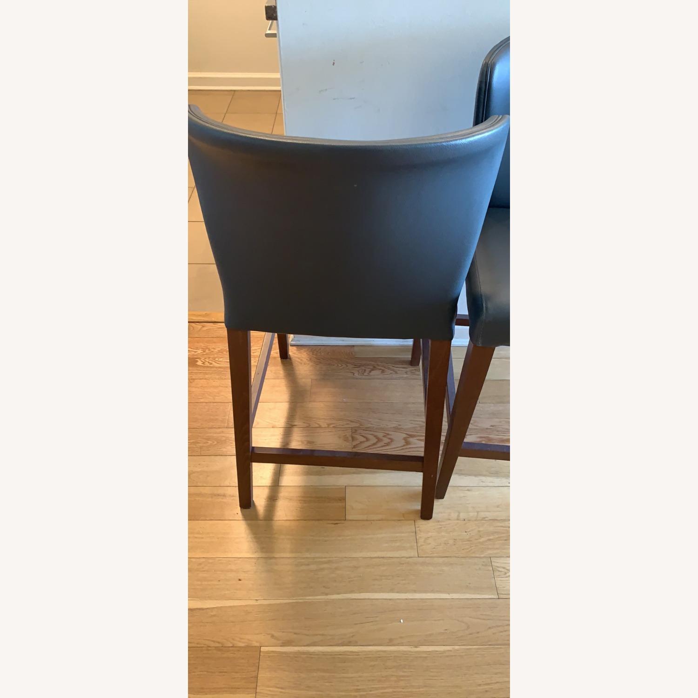 Crate & Barrel Curran Gray Counter Stools - image-2