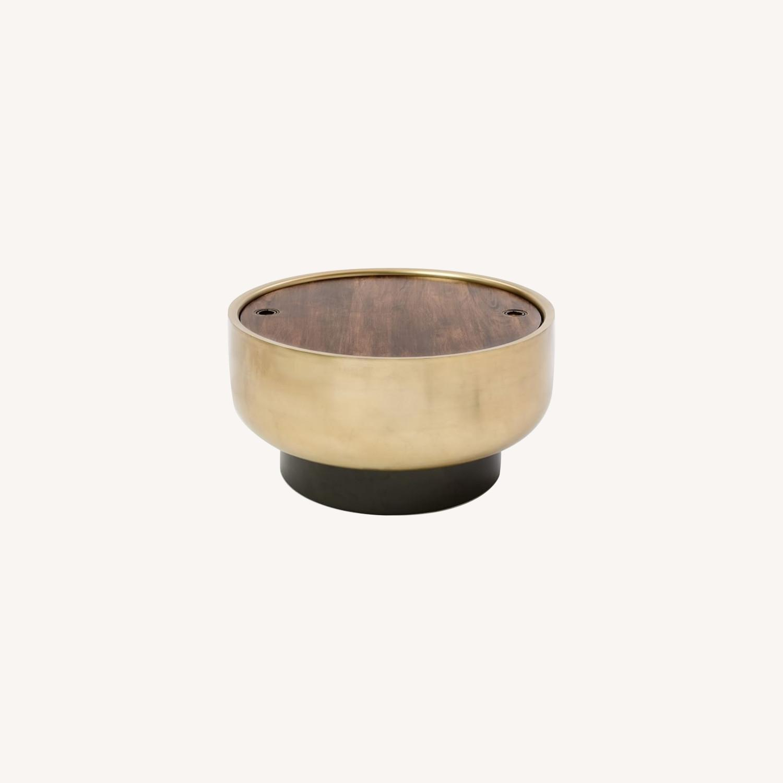 West Elm Drum Storage Coffee Table - image-0