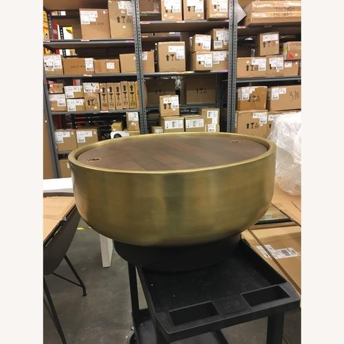 Used West Elm Drum Storage Coffee Table for sale on AptDeco