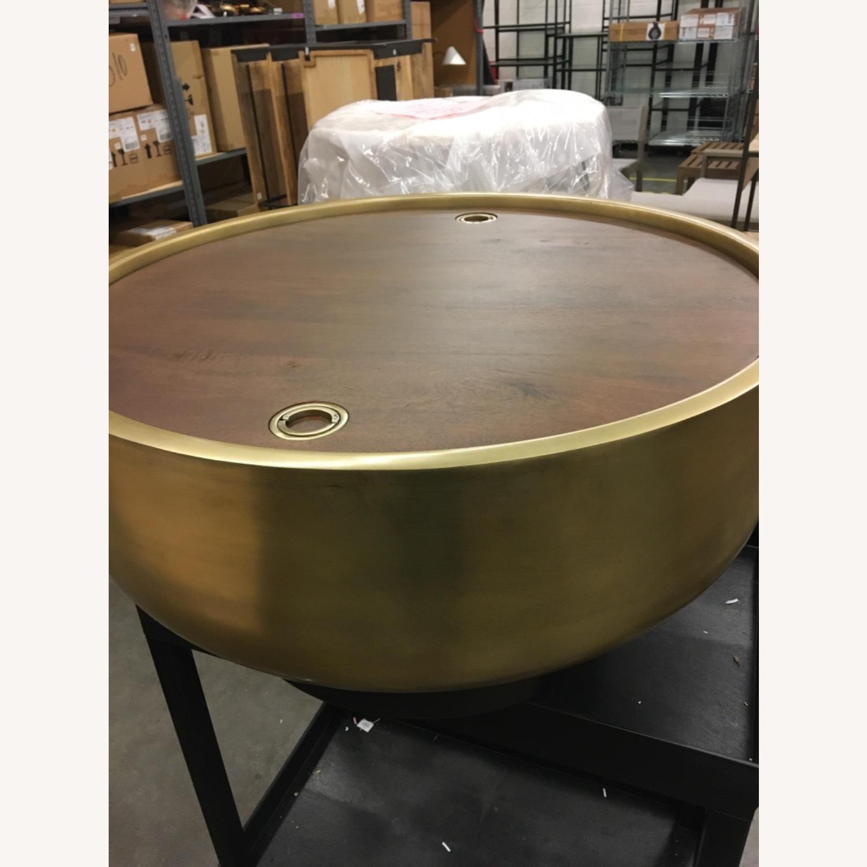 West Elm Drum Storage Coffee Table - image-7