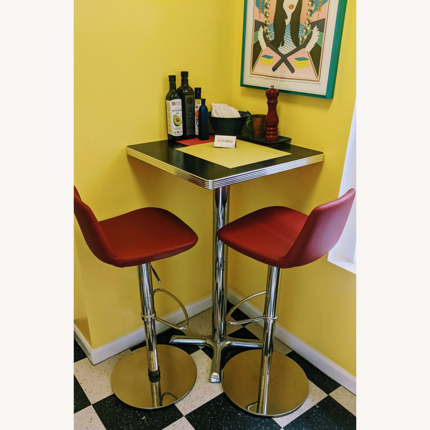 """High-top"" Corner Square Diner Table - image-6"