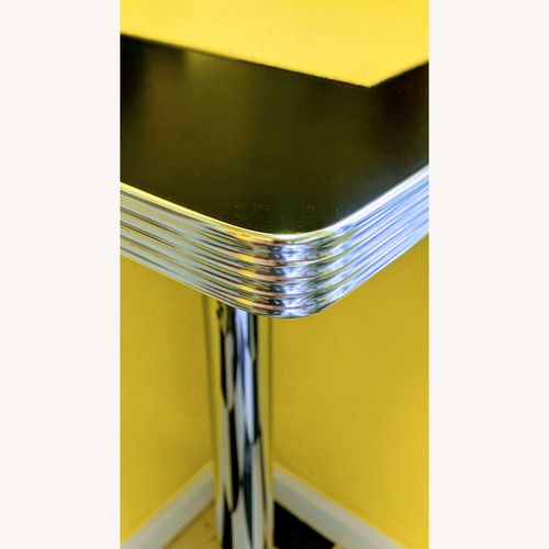 """Used """"High-top"""" Corner Square Diner Table for sale on AptDeco"""