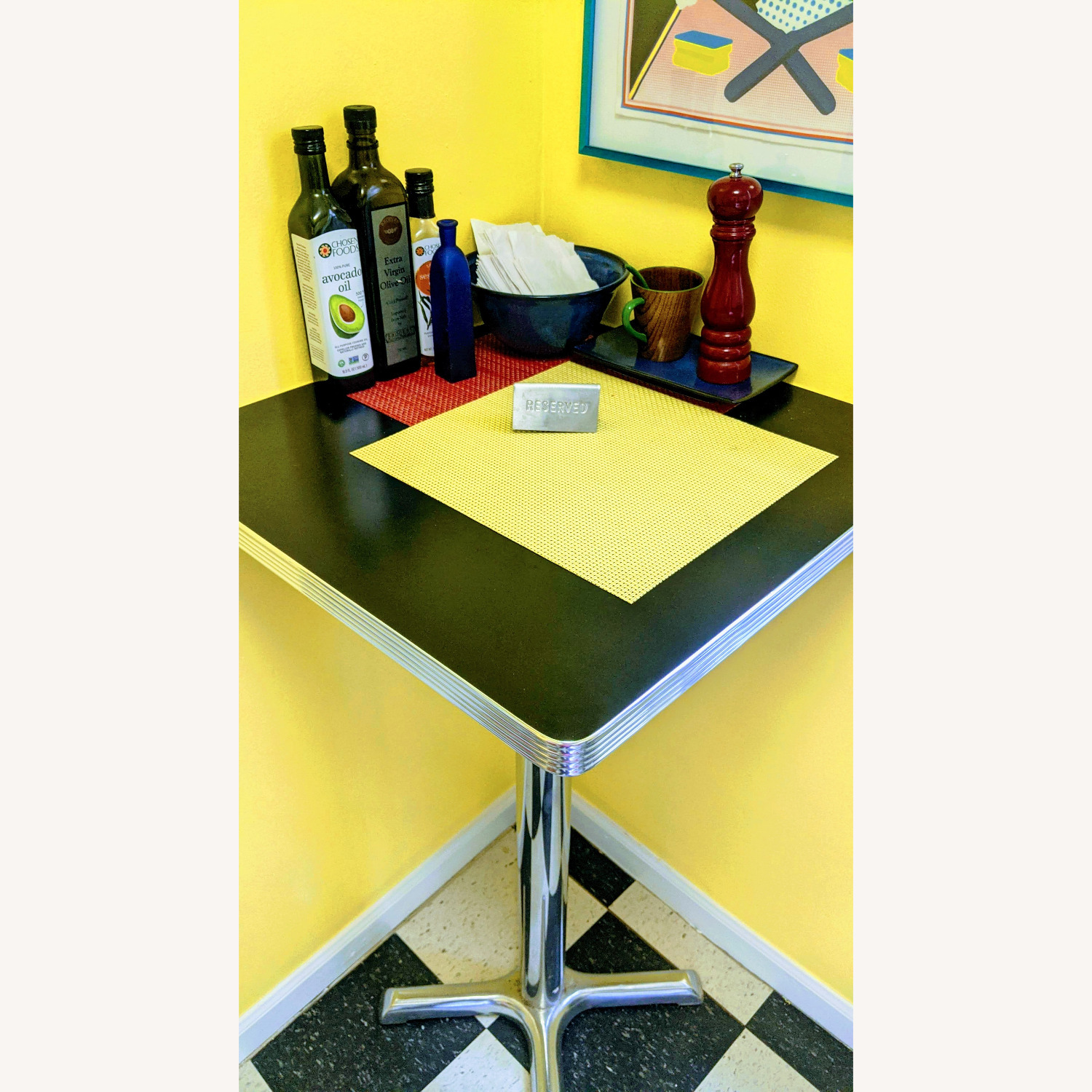 """High-top"" Corner Square Diner Table - image-5"