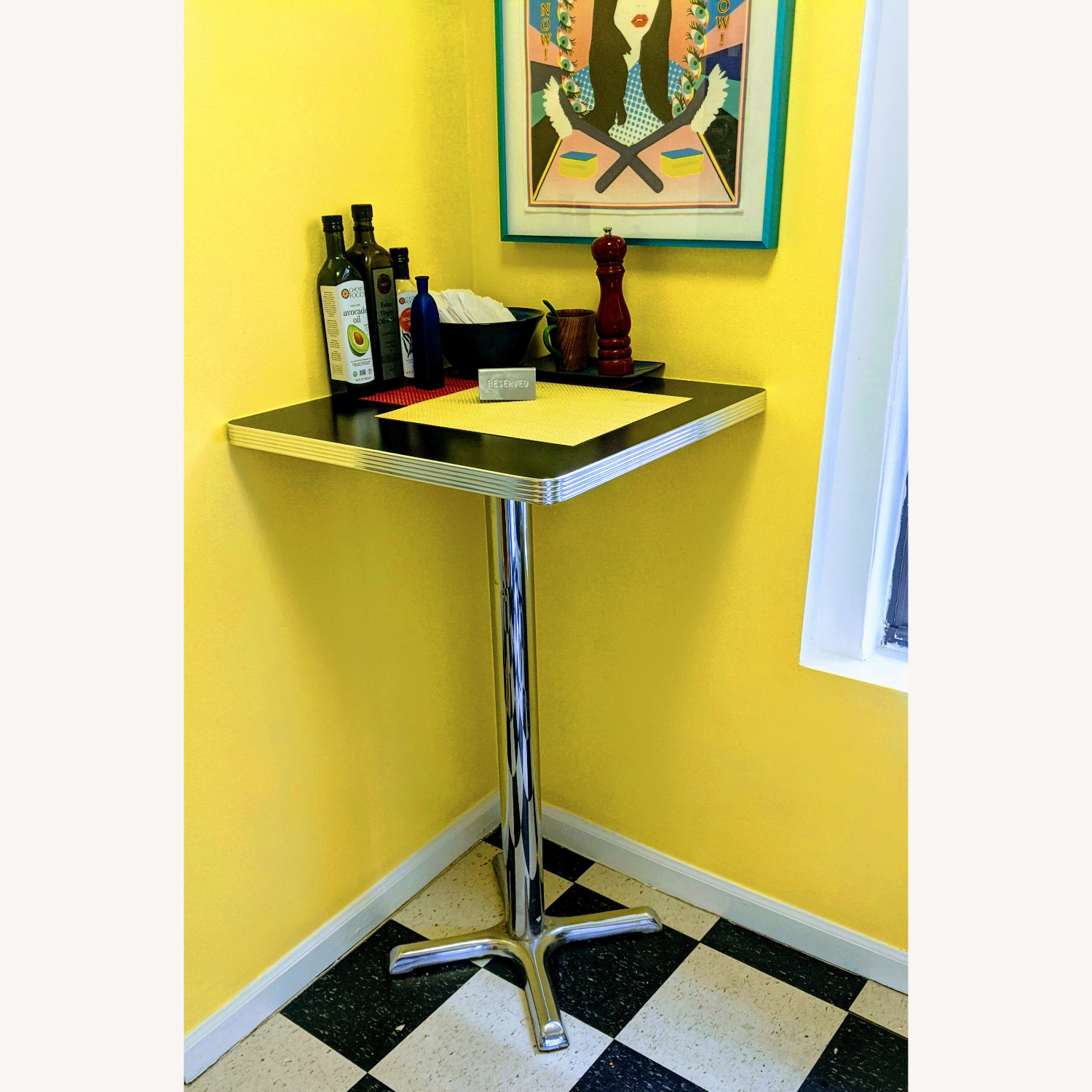 """High-top"" Corner Square Diner Table - image-1"