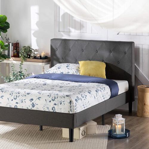 Used ZINUS Shalini Upholstered Platform Bed Frame for sale on AptDeco