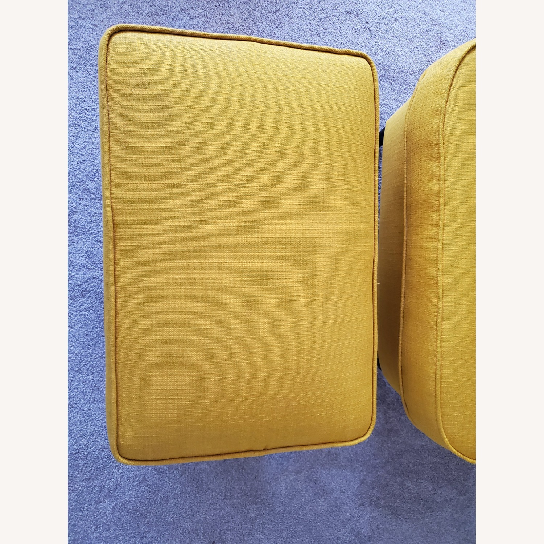 IKEA STRANDMON Wing Chair with Ottoman - image-5