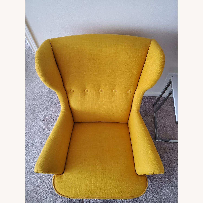 IKEA STRANDMON Wing Chair with Ottoman - image-2