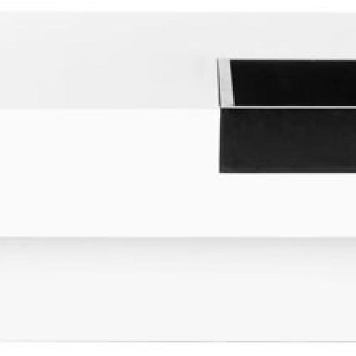 Used Safavieh Wesley Coffee Table, White/Black for sale on AptDeco