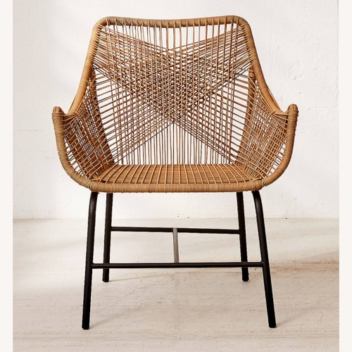 """Used Urban Outfitters """"Lana"""" Woven Rattan Chair for sale on AptDeco"""