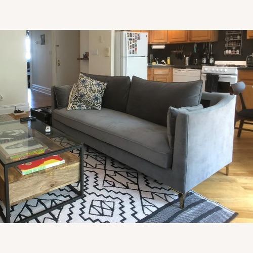Used Wayfair Velvet Gray Sofa for sale on AptDeco