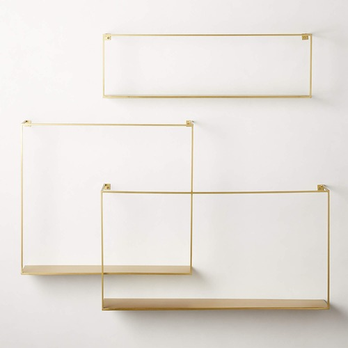 Used CB2 Large Floating Shelves (Set of 3) for sale on AptDeco