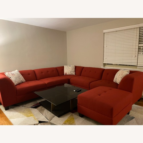 Used Red Modern 6 Piece Sectional for sale on AptDeco