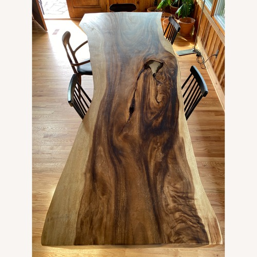 Used Large Live Edge Acacia Dining Table for sale on AptDeco
