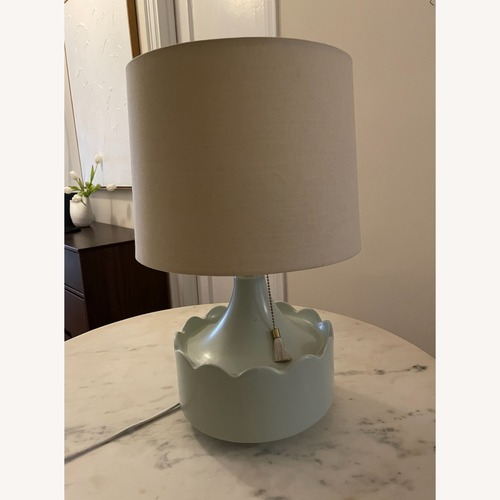 Used Anthropolgie Scallop Edge Lamp for sale on AptDeco