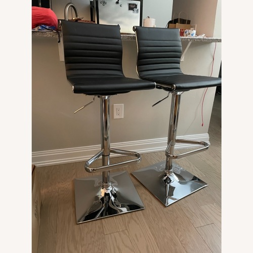 Used Target Set of Faux Leather Bar Stools for sale on AptDeco