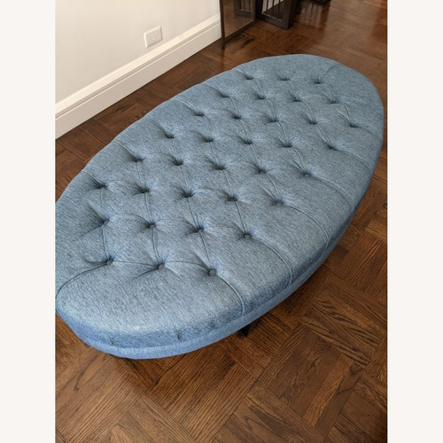 Used The Madison Collection Tufted Blue Coffee Table for sale on AptDeco