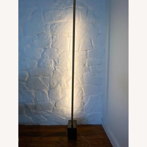 Used Pottery Barn Minimalist Marble & Brass Floor Lamp for sale on AptDeco