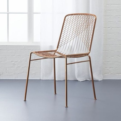 Used CB2 Alpha Copper Chair for sale on AptDeco