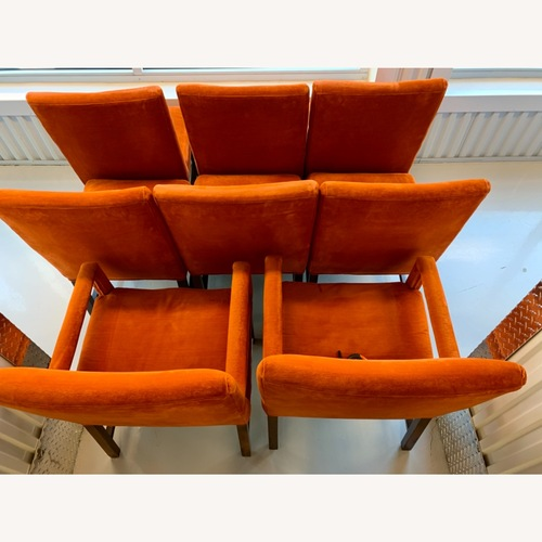 Used Dining Chairs - Comfortable Dark Orange Velour for sale on AptDeco