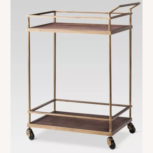 Used Target  Wood & Gold Finish Bar Cart - Threshold for sale on AptDeco