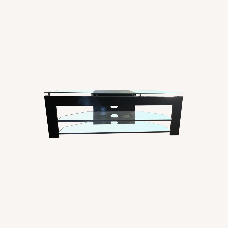 TechCraft Glass TV Stand - image-0