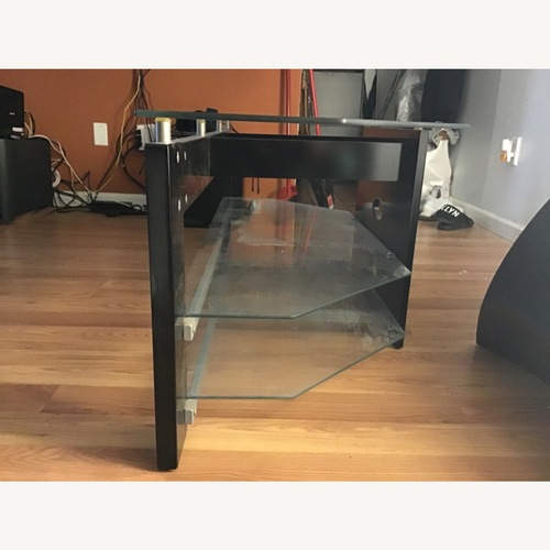 Used TechCraft Glass TV Stand for sale on AptDeco