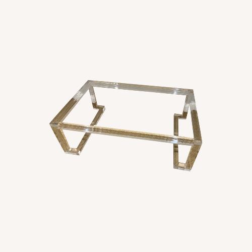 Used Lillian August Acrylic Glass Coffee Table for sale on AptDeco