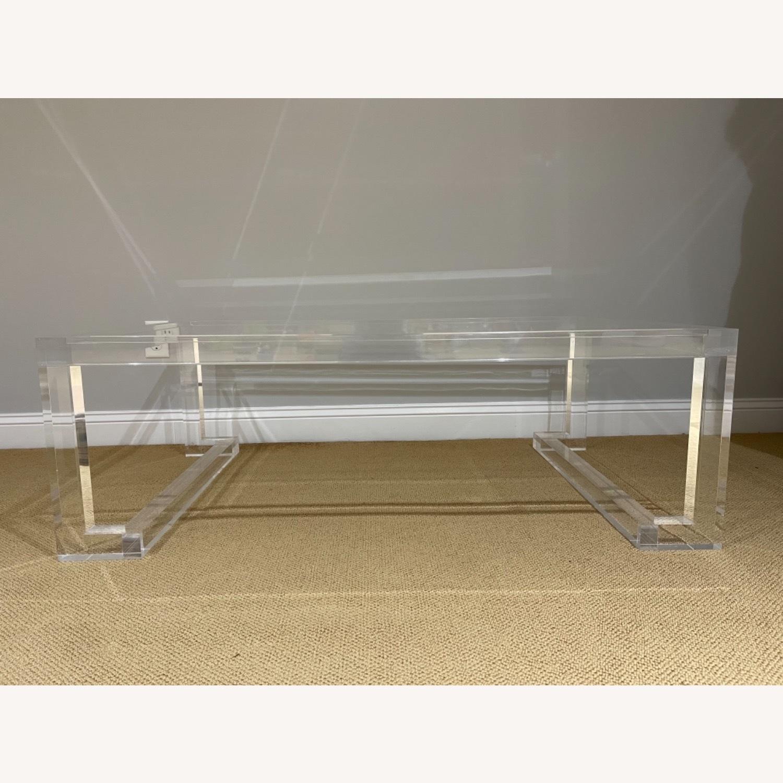 Lillian August Acrylic Glass Coffee Table - image-3