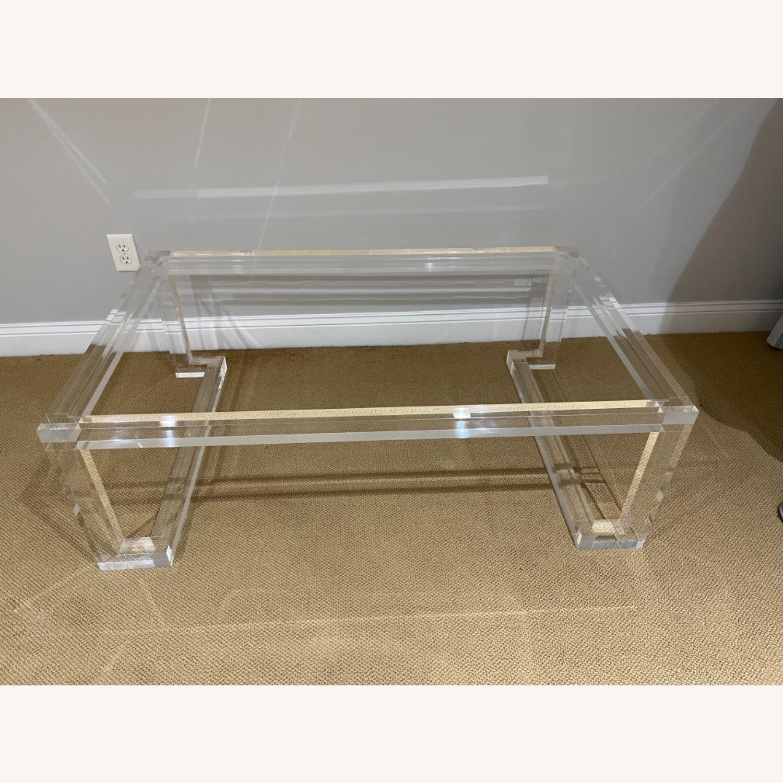 Lillian August Acrylic Glass Coffee Table - image-2