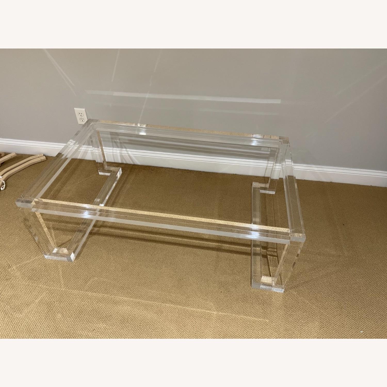 Lillian August Acrylic Glass Coffee Table - image-1