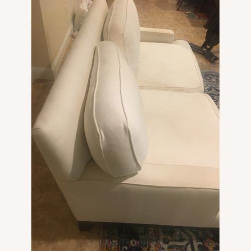 Used Pottery Barn Upholstered Fabric Seabury Sofa for sale on AptDeco