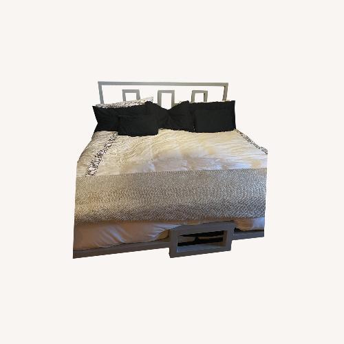 Used Boltz Steel Furniture King Size Architect Steel Bed Frame for sale on AptDeco