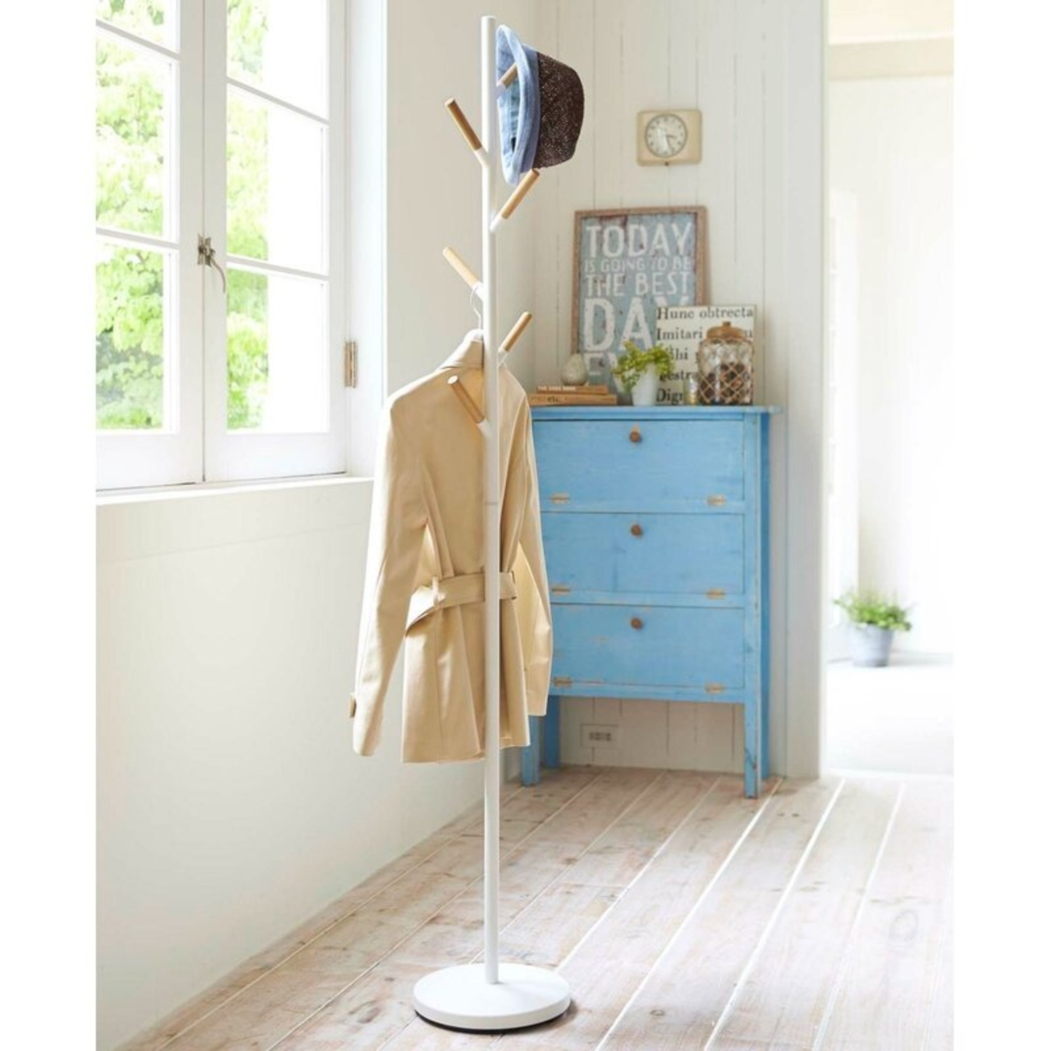 Container Store Yamazki Home Freestanding Coat Rack - image-4