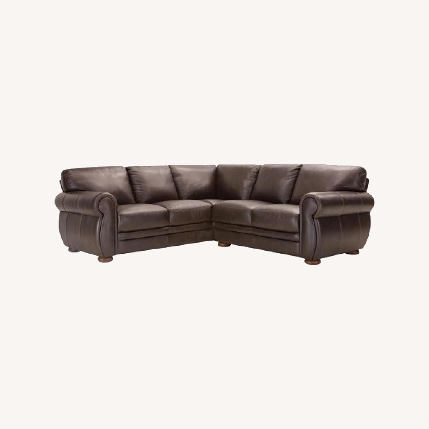 Raymour Flanigan Leather Sectional Sofa Aptdeco
