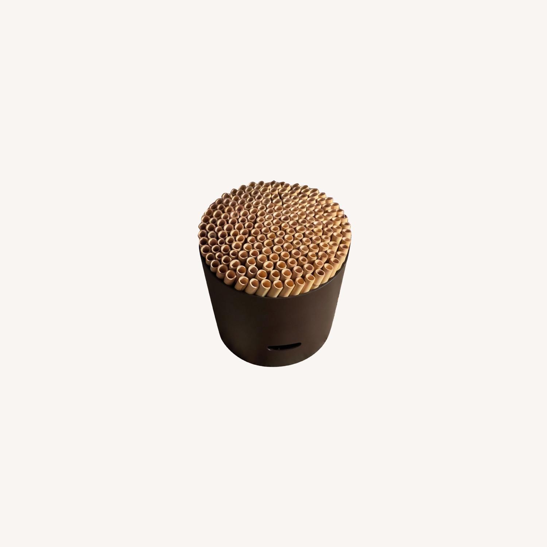 ABC Carpet & Home Bamboo Brown Stool - image-0