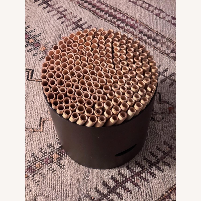 ABC Carpet & Home Bamboo Brown Stool - image-5