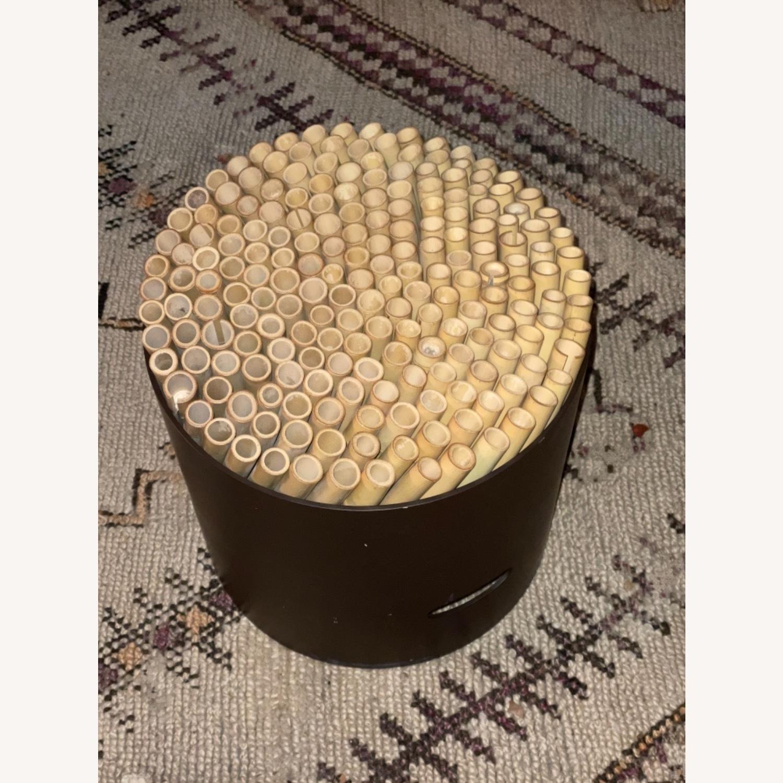 ABC Carpet & Home Bamboo Brown Stool - image-2