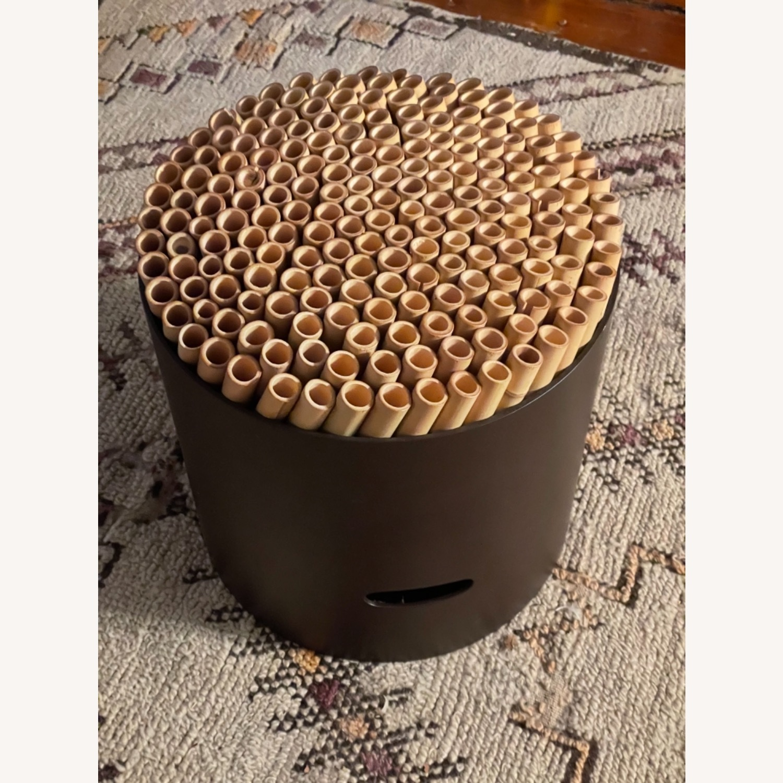 ABC Carpet & Home Bamboo Brown Stool - image-4