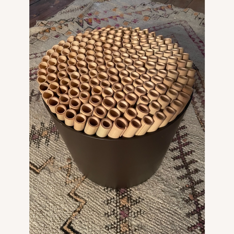 ABC Carpet & Home Bamboo Brown Stool - image-7
