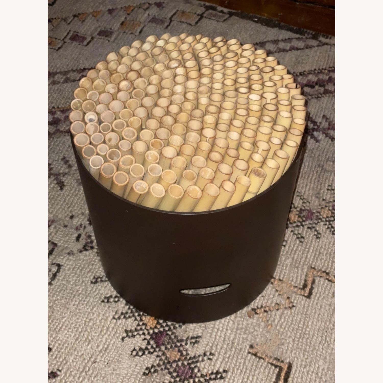 ABC Carpet & Home Bamboo Brown Stool - image-1