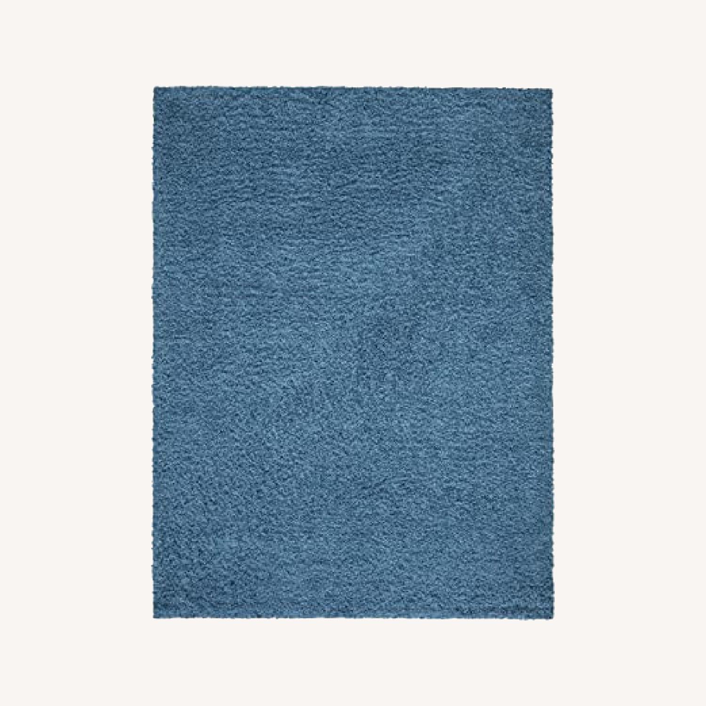 "Rugs USA 5'3"" x 7' Turquoise Shag Rug - image-0"