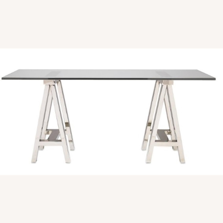 Williams Sonoma Home Mason Glass Top Table/Desk - image-2