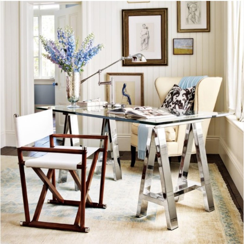 Williams Sonoma Home Mason Glass Top Table/Desk - image-4