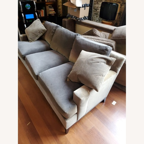 Used Suade Green Couch for sale on AptDeco