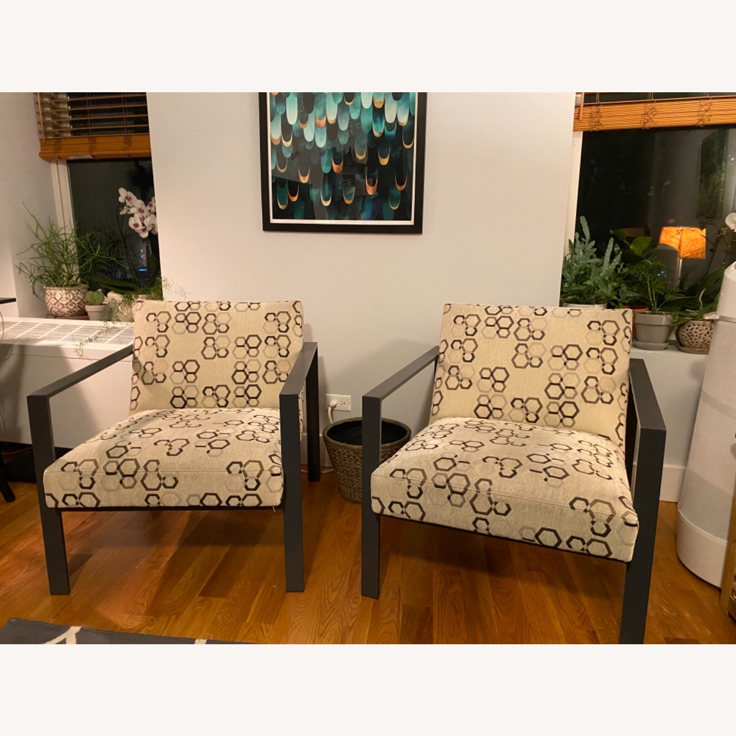ABC Home Steel Frame Upholstered Chairs - image-1