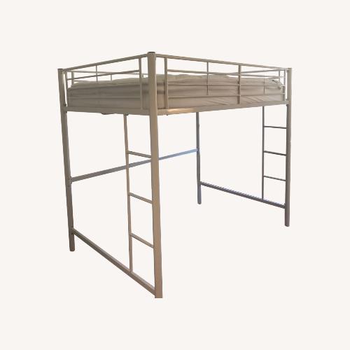 Used White Loft Bed Full Size for sale on AptDeco