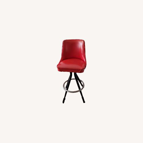 Used Richardson Seating Corp Retro Red Bar Stools for sale on AptDeco